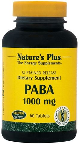 Nature's Plus Paba 1000mg, 60 Ταμπλέτες