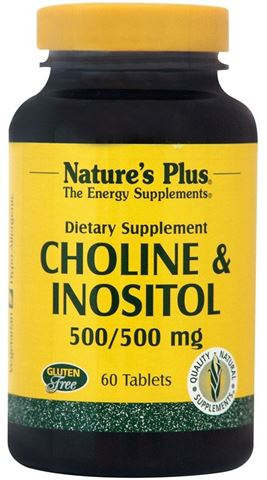 Nature's Plus Choline & Inositol 500mg, 60 Ταμπλέτες