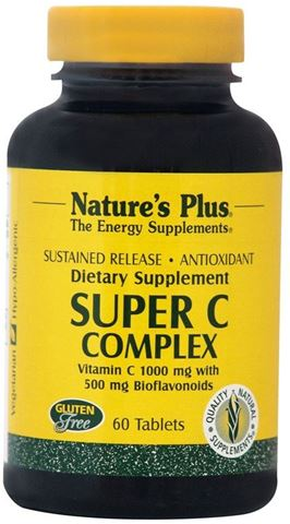 Nature's Plus Super C Complex 1000mg, 60 Ταμπλέτες
