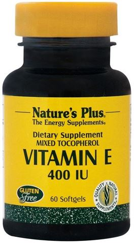 Nature's Plus Vitamin E 400IU, 60 Μαλακές Κάψουλες