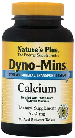 Nature's Plus Dyno-Mins Calcium 500mg, 90 Ταμπλέτες