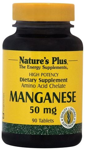 Nature's Plus Manganese 50mg, 90 Tαμπλέτες