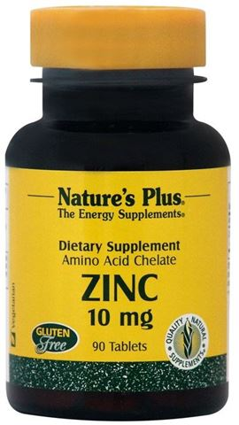Nature's Plus Zinc 10mg, 90 Tαμπλέτες