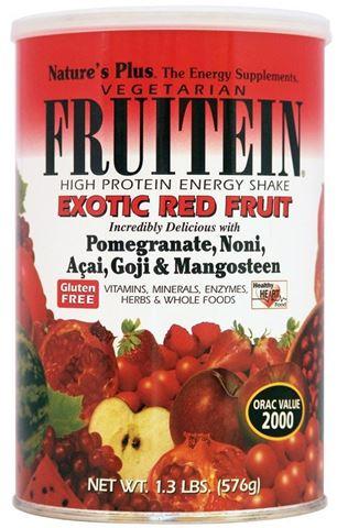 Nature's Plus Fruitein Exotic Red Fruit Shake, 576g