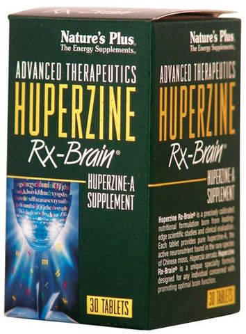 Nature's Plus Huperzine Rx Brain 30 Ταμπλέτες