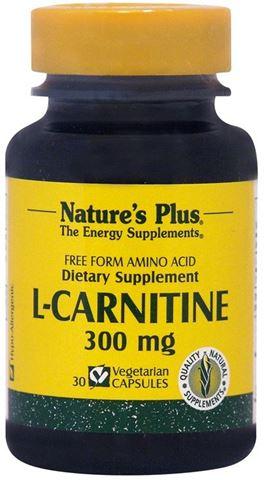 Nature's Plus L-Carnitine 300mg, 30 Φυτικές Κάψουλες