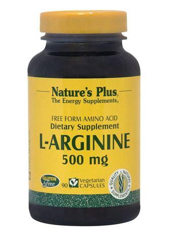 Nature's Plus L-Arginine 500mg, 90 Φυτικές Κάψουλες