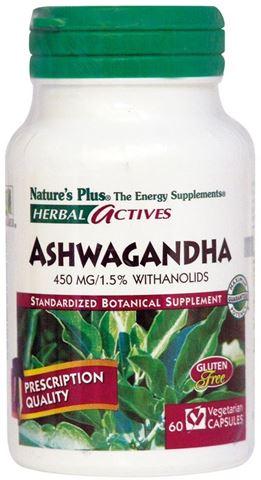 Nature's Plus Aswagandha 450mg, 60 Φυτικές Κάψουλες