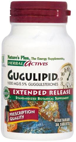Nature's Plus Gugulipid 1000mg, 30 Ταμπλέτες