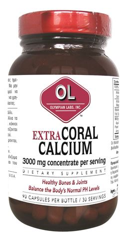 Olympian Labs Coral Calcium 1000mg, 90 Κάψουλες