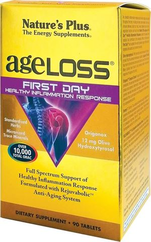 Nature's Plus AgeLoss First Day Healthy Inflammation Response 90 Ταμπλέτες