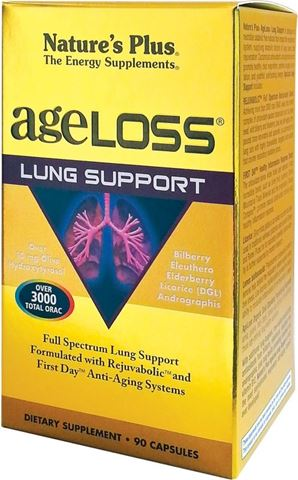Nature's Plus Ageloss Lung Support 90 Κάψουλες