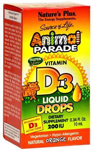 Nature's Plus Animal Parade Vitamin D3, 90 Μασώμενες Ταμπλέτες για Παιδιά