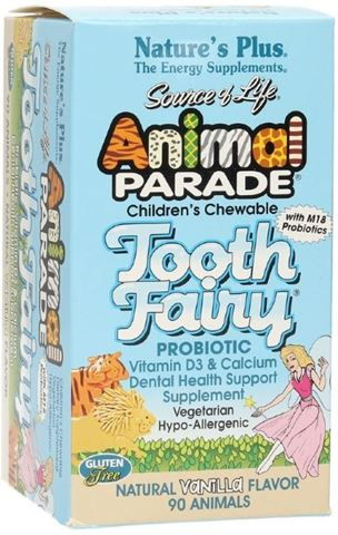Nature's Plus Animal Fairy Parade Tooth 90 Μασώμενες Ταμπλέτες για Παιδιά