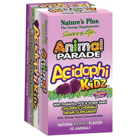 Nature's Plus Animal Parade Acidophikidz Berry Flavor 90 Mασώμενες Tαμπλέτες