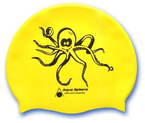 Silicone Swim Cap Junior, Παιδικό Σκουφάκι Κολύμβησης Κίτρινο