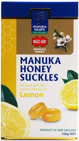 Manuka Health Φυσικές Καραμέλες με μέλι Manuka MGO400 με Φυσικό Άρωμα Λεμονιού, 100g