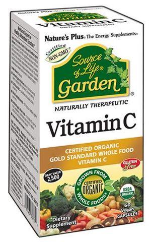 Nature's Plus Garden Vitamin C 60 Φυτικές Κάψουλες