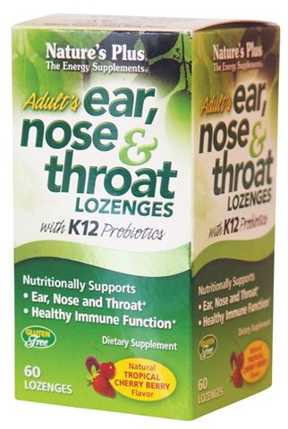 Nature's Plus Ear Nose & Throat 60 Λειχόμενα Δισκία