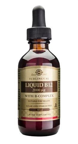 Solgar Vitamin B-12 2000μg with B-Complex Liquid 59m
