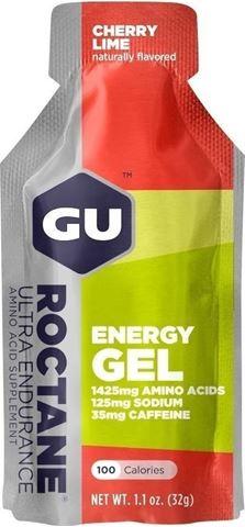 Ενεργειακό gel GU ROCTANE - Γεύση Κεράσι-Λεμόνι (Cherry-Lime) - καφεΐνη 35mg, 32gr