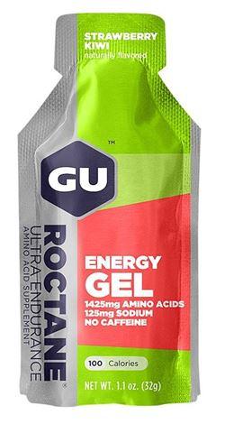 Ενεργειακό gel GU ROCTANE - Γεύση Φράουλα Κίουϊ (Strawberry Kiwi) - χωρίς καφεΐνη, 32gr