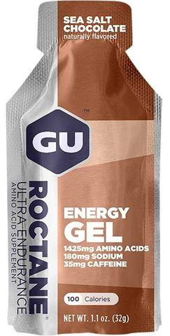 Ενεργειακό gel GU ROCTANE - Γεύση Αλάτι Θαλάσσης & Σοκολάτα (Sea Salt Chocolate) - καφεΐνη 35mg, 32gr