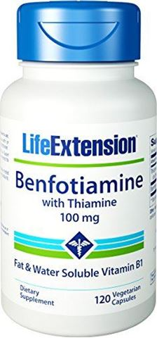 Life Extension Benfotiamine With Thiamine 100mg, 120 Φυτικές Κάψουλες
