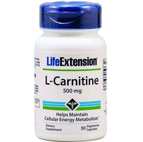 Life Extension L-Carnitine 500mg, 30 Φυτικές Κάψουλες