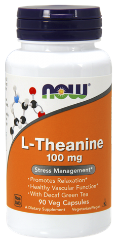 Now Foods L-Theanine 100mg, 90 Φυτικές Κάψουλες
