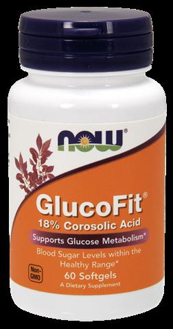 Now Foods Glucofit Corosolic Acid, 60 Μαλακές Κάψουλες