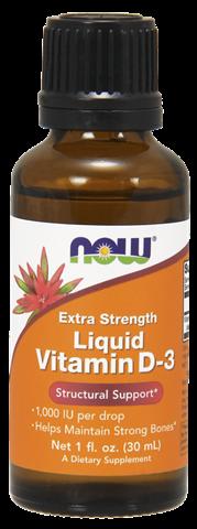 Now Foods Liquid Vitamin D-3, 1000IU, 28,4ml