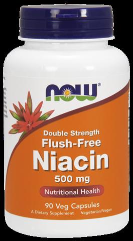 Now Foods Flush Free Niacin 500mg, 90 Φυτικές Κάψουλες