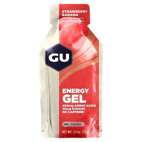 Ενεργειακό gel GU - Γεύση Φράουλα-Μπανάνα (Strawberry-Banana) - χωρίς καφεΐνη 32gr