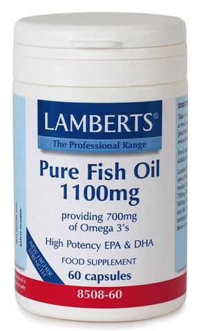 Lamberts Pure Fish Oil 1100mg (Epa) 60 Κάψουλες