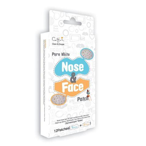 Vican Cettua Pure White Nose & Face Patch Συσκευασία με 12 Strips