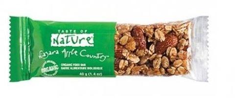 Taste of Nature Μπάρα Ξηρών Καρπών με Μήλο 40gr