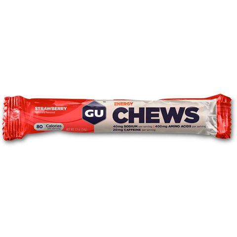 Μασώμενα Ενεργειακά Καραμελάκια CHEWS - Γεύση Strawberry (Φράουλα) - καφεϊνη 20mg