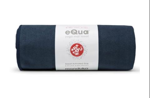 Manduka eQua Yoga Mat Πετσέτα Midnight