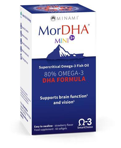 Minami Nutrition MorDHA Mini I.Q. 60 Κάψουλες, για παιδιά έως 5 ετών.