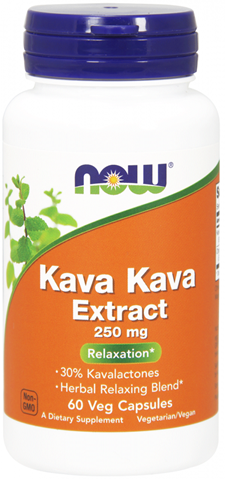 Now Foods Kava Kava Extract 250mg, 60 Κάψουλες