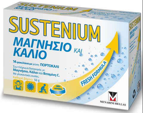 Menarini Sustenium Μαγνήσιο & Κάλιο 14 Φακελάκια