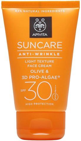 Apivita Suncare Anti-Wrinkle SPF30 Αντιρυτιδική Αντιηλιακή Κρέμα Προσώπου με Ελιά & 3D Pro - Alage, 50ml