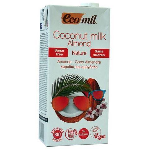 EcoMil Γάλα Καρύδας - Αμυγδάλου Χωρίς Ζάχαρη 1lt