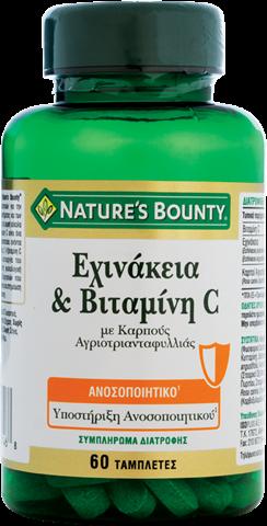 Nature's Bounty Εχινάκεια & Βιταμίνη C, 60 Ταμπλέτες
