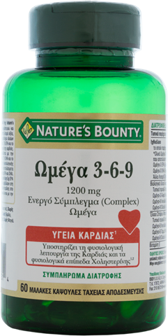 Nature's Bounty Ωμέγα 3-6-9, 1200mg, 60 Μαλακές Κάψουλες