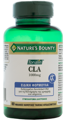 Nature's Bounty Tonalin CLA 1000mg, 60 Μαλακές Κάψουλες