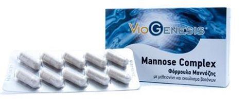 Viogenesis Mannose Complex 500mg 60 Κάψουλες