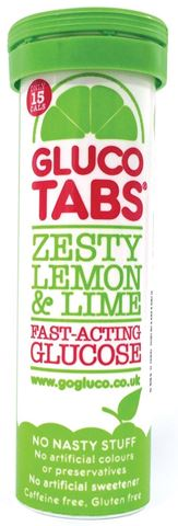 GlucoTabs Ταμπλέτες Υπογλυκαιμίας με Γεύση Lemon Lime, 10 ταμπλέτες
