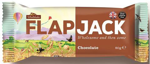 Wholebake Μπάρα βρώμης FLAPJACK Σοκολάτα 80gr